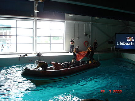 Capsize training at the College, Poole RNLI capsize training.JPG