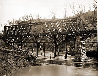 Chattanooga, Tennessee - Railroad Bridge across Chattanooga Creek, c. 1861