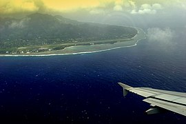 Raro airport from air.JPG
