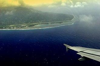 Rarotonga International Airport - Image: Raro airport from air