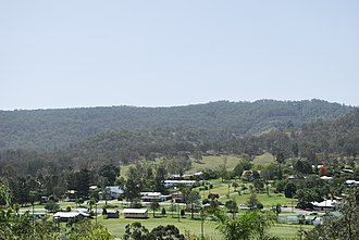 Rathdowney, Queensland - Rathdowney seen from the town's scenic lookout