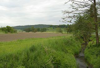 Rauhe Ebrach River in Germany