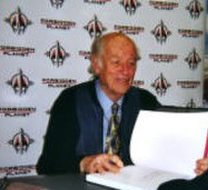 Ray Harryhausen - Harryhausen at the Forbidden Planet store in London (May 2007)