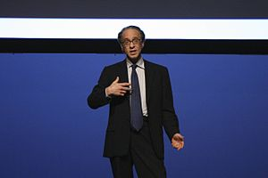 Picture of Mr. Kurzweil giving a speech
