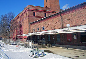 Waterbury Union Station - Image: Rear of former Waterbury Union Station building