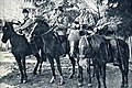 Red officers on their horses during the Finnish Civil War