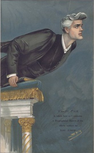 """Reginald John Campbell - """"Fearless but Intemperate"""" Campbell as caricatured by 'Spy' in Vanity Fair, November 1904"""