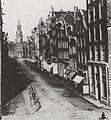 Reguliersbreestraat richting de Munt, ~1860.jpg