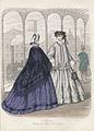 Reklamteckning, modeplansch. Le Salon. Moniteur des Modes Parisienne ur Nyaste Journal för Damer, nr 13, 1862-07 - Nordiska Museet - NMA.0054443.jpg