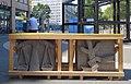 Reliefs und Turmhahn des ehemaligen Franziskaner-Klosters auf der Oststraße, Düsseldorf, ausgestellt Juli 2018 - (2).jpg