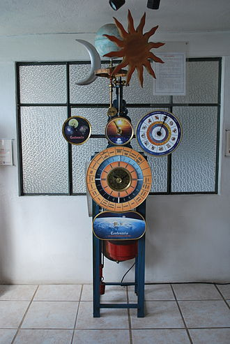 "Horology - ""Universal Clock"" at the Clock Museum in Zacatlán, Puebla, Mexico"