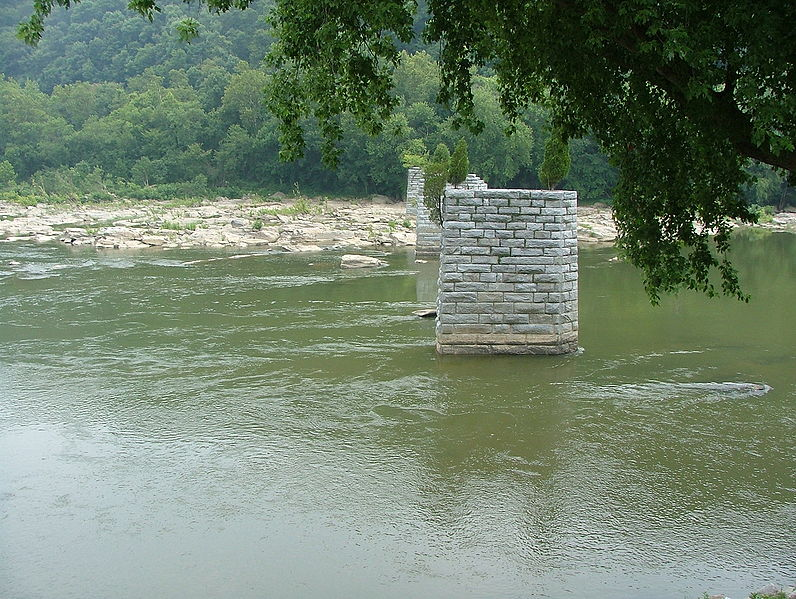 File:Remains of Bridge Across Shenandoah River.jpg