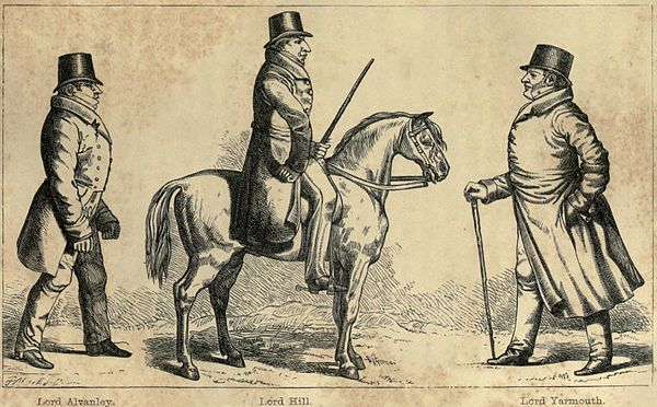 Lord Alvanley, Lord Hill, and Lord Yarmouth.