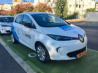 Renault Z.E. - Renault Zoe, as part of a CAR2GO car-share project in Haifa, Israel