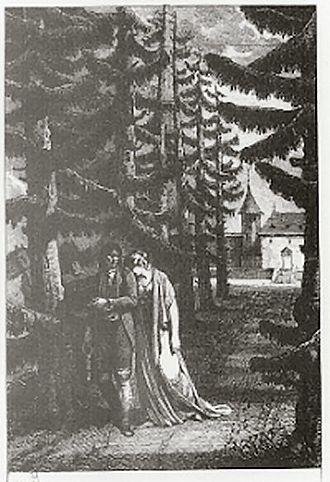 René (novella) - René walking with Amélie