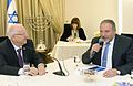 Reuven Rivlin opened the consultations after the 2015 elections with Yisrael Beiteinu (2).jpg