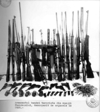 Armes et munitions, saisies par la Securitate vers 1952.