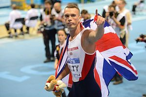 2014 IAAF World Indoor Championships – Men's 60 metres - Kilty after the winning the final.