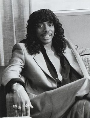 Rick James - James on Lifestyles of the Rich and Famous in 1984