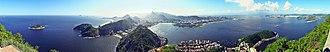 Sugarloaf Mountain - Image: Rio de Janeiro Panoramic from Pão de Açúcar crop