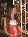 Risa Kobayashi, Tecmo promotional model at Tokyo Game Show 20081011.jpg