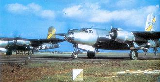 RAF Hurn - Martin B-26C-45-MO Marauder Serial 42-107832 of the 598th Bomb Squadron.
