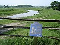 River Adur - and plaque giving historical information about Stretham Manor - geograph.org.uk - 1189485.jpg