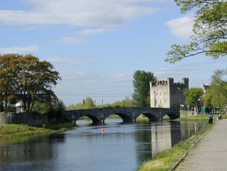 Athy Town in Leinster, Ireland