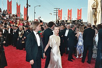 Martha Plimpton - River Phoenix and Plimpton on the red carpet at the 61st Academy Awards, 1989