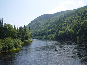 Jacques-Cartier River - The Jacques-Cartier River in the Jacques-Cartier National Park
