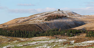 Rivington Pike mountain in United Kingdom