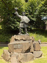 Statue vo Rob Roy in Stirling