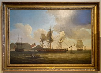 First Fleet - An English Fleet in Table Bay in 1787 by Robert Dodd.