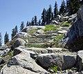 Rock Garden Steps on the PCT - panoramio.jpg