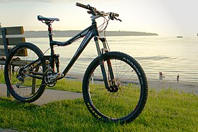 4a7839e65 A Rocky Mountain Altitude 70 full-suspension mountain bike