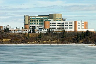 Rockyview General Hospital - RGH overlooking the Glenmore Reservoir