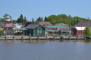 National Register of Historic Places listings in Manitowoc County, Wisconsin - Image: Rogers Street Historic Fishing Village and Great Lakes Coast Guard Museum; Two Rivers, WI; June 3, 2012