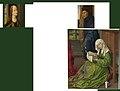 Rogier van der Weyden - Reconstructie met Maria Magdalena leest, Jozef en Catharina - van een verloren schilderij.jpg
