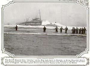 SS Rohilla - Image: Rohilla (steamship) grounded 1914