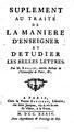 Rollin - Suplement au Traité de la maniere d'enseigner et d'étudier les belles Lettres, 1734.pdf