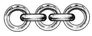 Jewellery chain - Image: Rolo chain