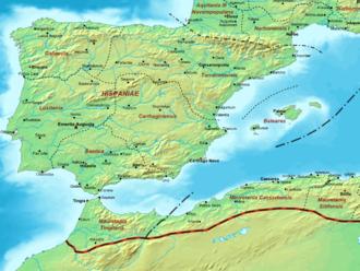 Mauretania Sitifensis - The province of Mauretania Sitifensis within the Roman Empire in AD 400