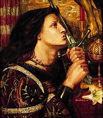 Jeanne d'Arc embrassant l'épée de la Délivrance