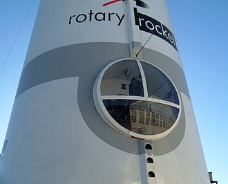 Rotary Rocket - The ATV's cockpit was nicknamed the 'Batcave' by its pilots because of its restricted field of view.