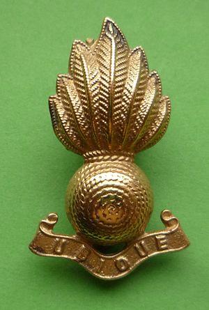 93rd Searchlight Regiment - Brass collar badge of the Royal Artillery