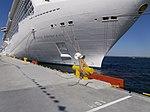 Royal Princess Name sign and Mooring Bollard Port of Tallinn 17 May 2014.jpg