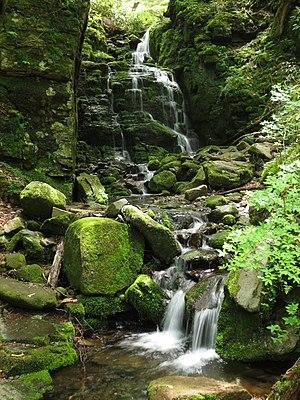 Lake Megami - Ryōsen Falls in Gosensui Natural Garden. Its source is in Mizuide.
