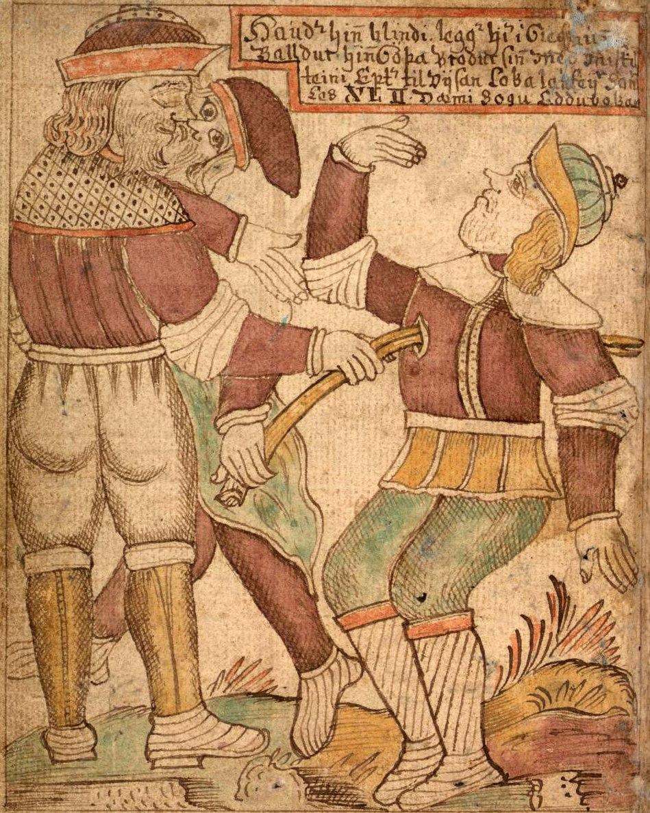 SÁM 66, 75v, death of Baldr