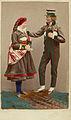 Sätesdalen i Norge. Handkolorerat foto på man och kvinna i norska folkdräkter - Nordiska Museet - NMA.0039990.jpg