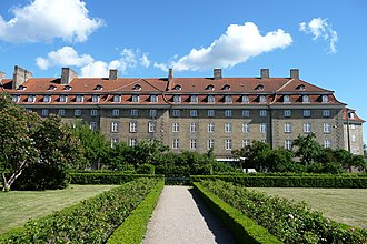 Sølvgade Barracks - The facade towards Sølvgade seen from Rosenborg Castle Garden